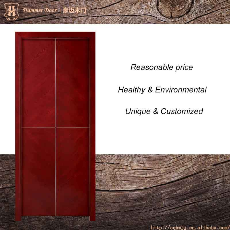 Red oak fashion veneer new design meeting room door