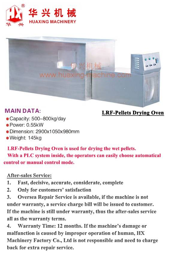 LRF-Pellets Drying Oven