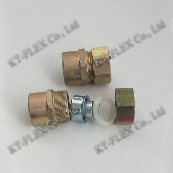 Female IP67 NPT size cable connectors for cable protection