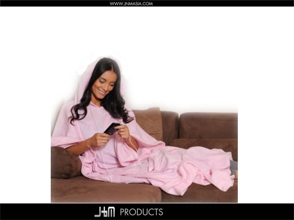 100% Polyester Fleece Blanket that Has Sleeves and Hood