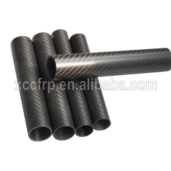 Factory price High Strength 3k Plain Carbon Fiber Tube 12mm Od (12*10*500mm)
