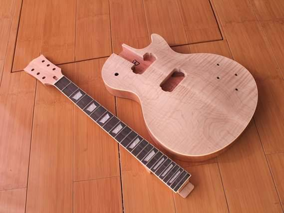 New brand unfinish LP carved maple body kit