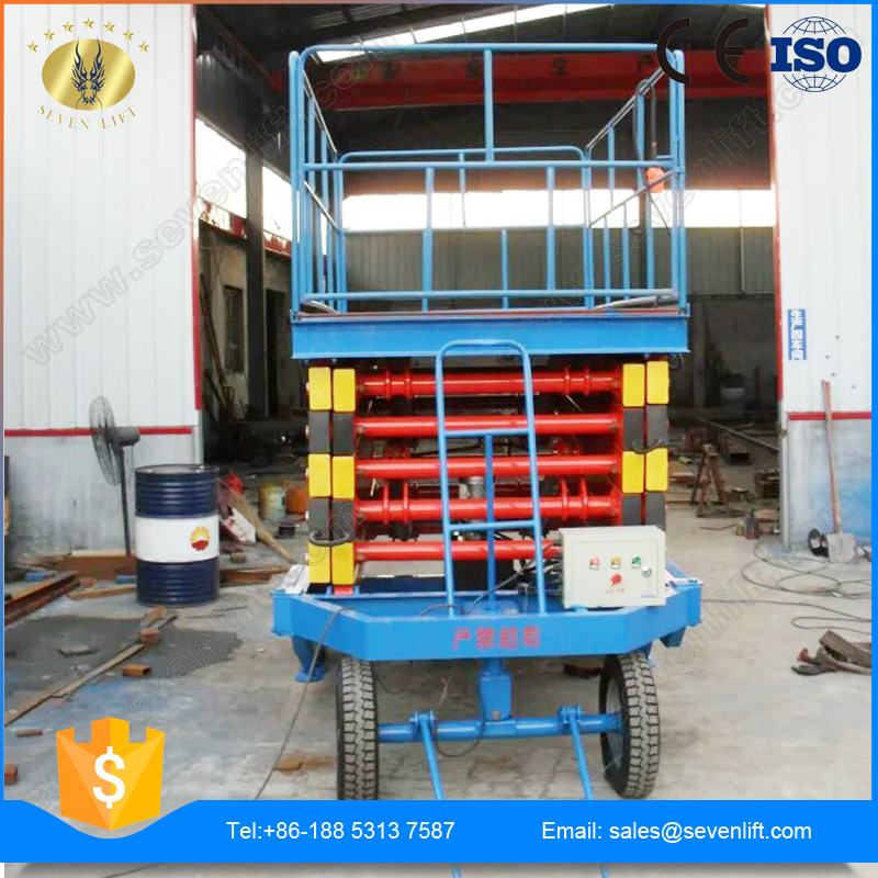7LSJY Shandong SevenLift portable upright hydraulic 20 meter scissor lift used