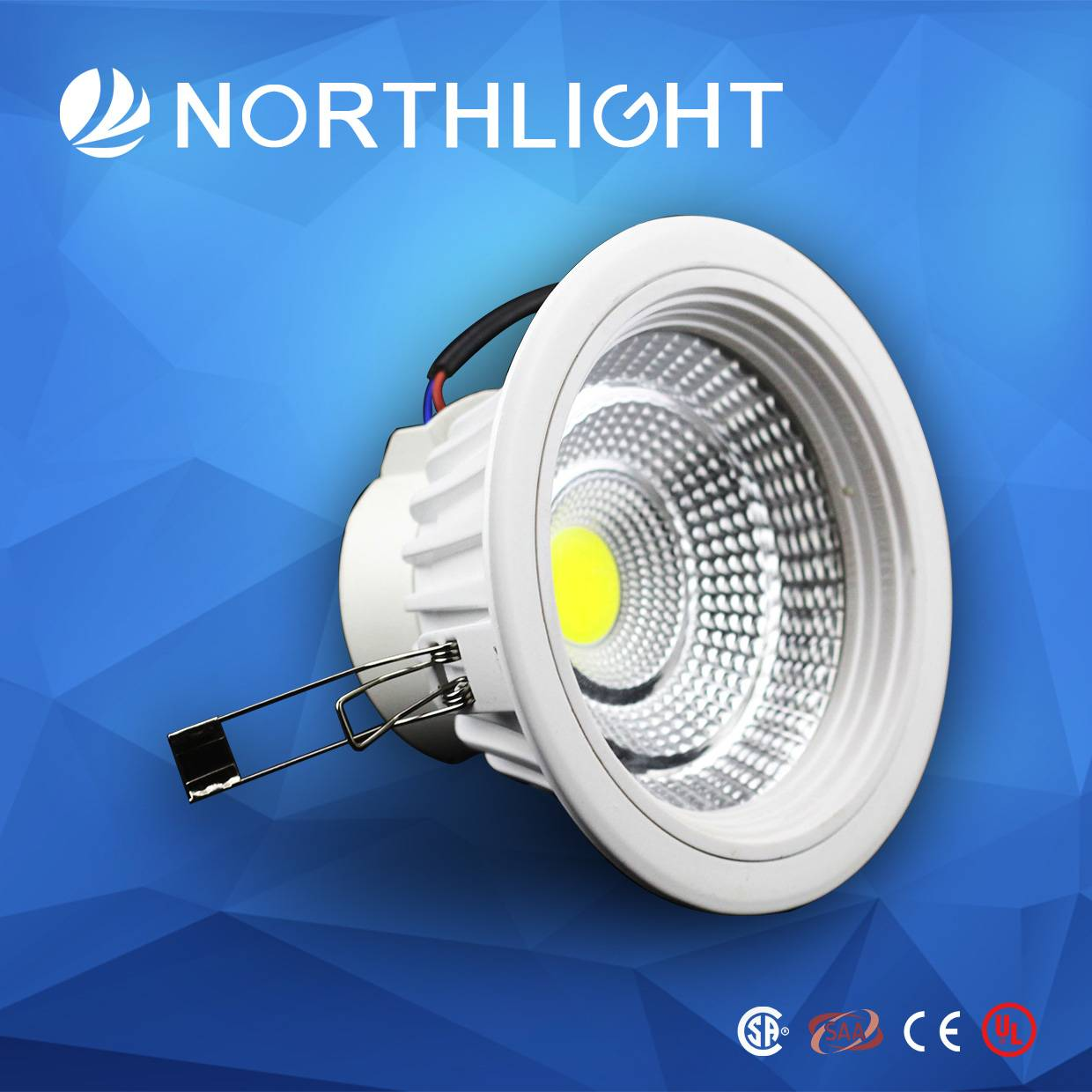 Wholesale 15W High quality and High Lumen COB LED Downlight