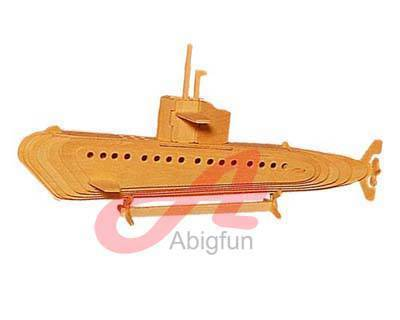 Submarine wooden construction kit weapons