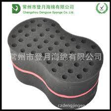 Double Sided with Big/Small holes Ellipse shaped hair twist sponge/Cruls hair Brush