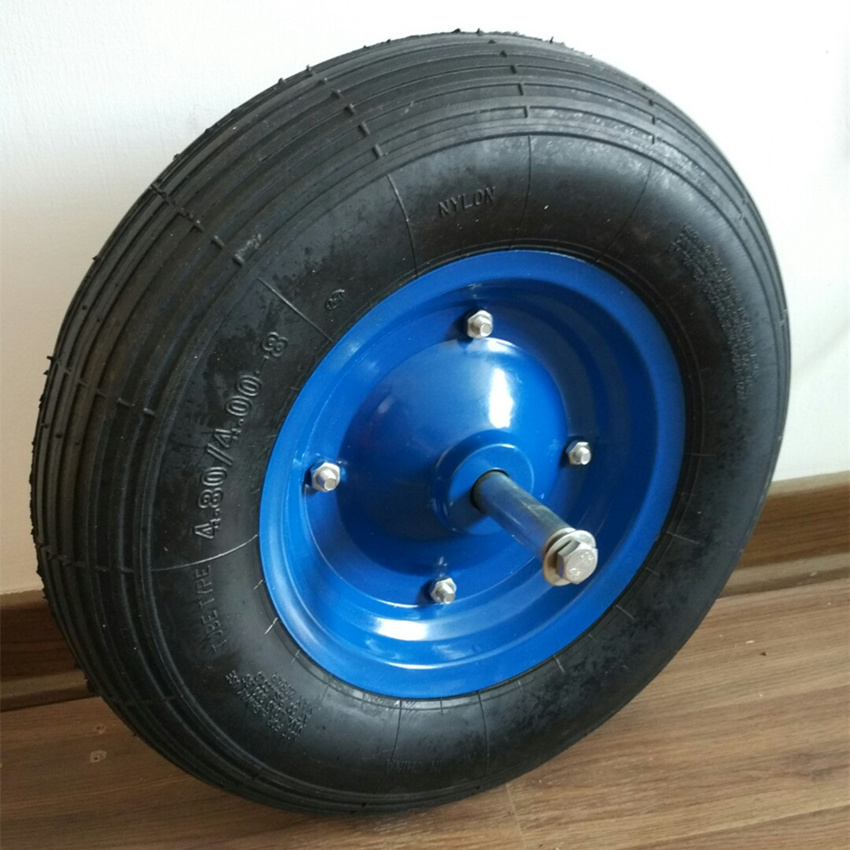 Natural Rubber 4.80/4.00-8 Wheel Barrow Wheel with Axle