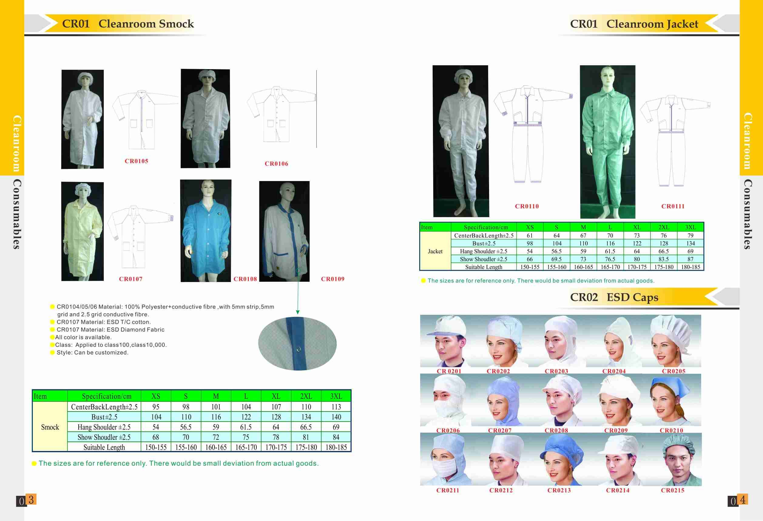 Wholesale,Manufacturer  ESD Clothes,ESD Jumpsuit,ESD Cleanroom smock,Cleanroom jacket