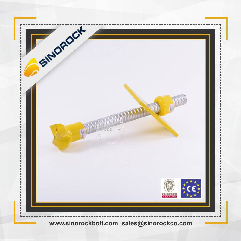 Sinorock tunneling self drilling injection rock anchor bolts