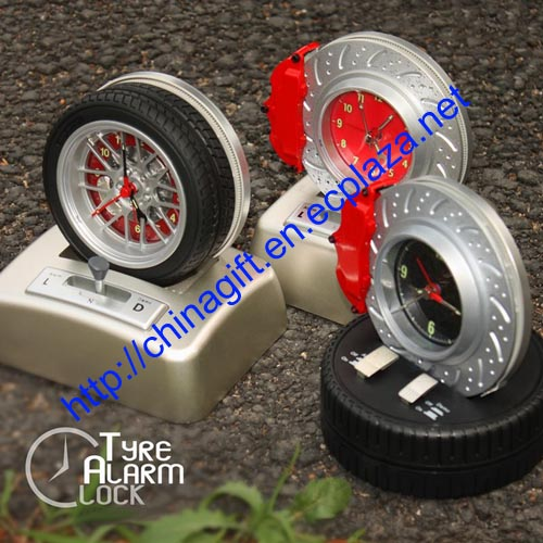 Rotating Tire Alarm Clock