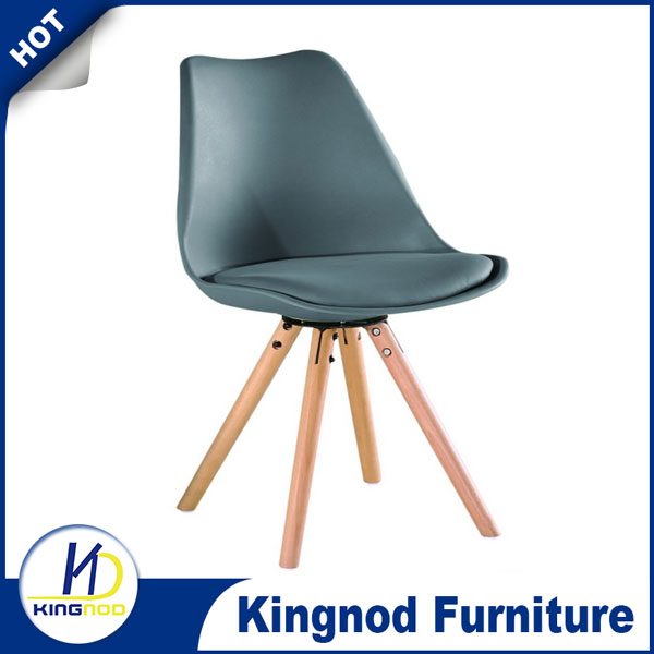 China Plastic PU Cushion Tulip Dining Chair C-498