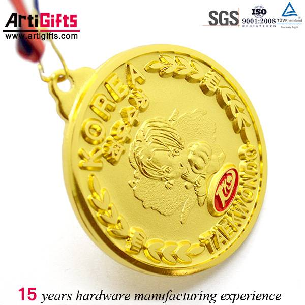 Gold plating enamel fashion custom medals