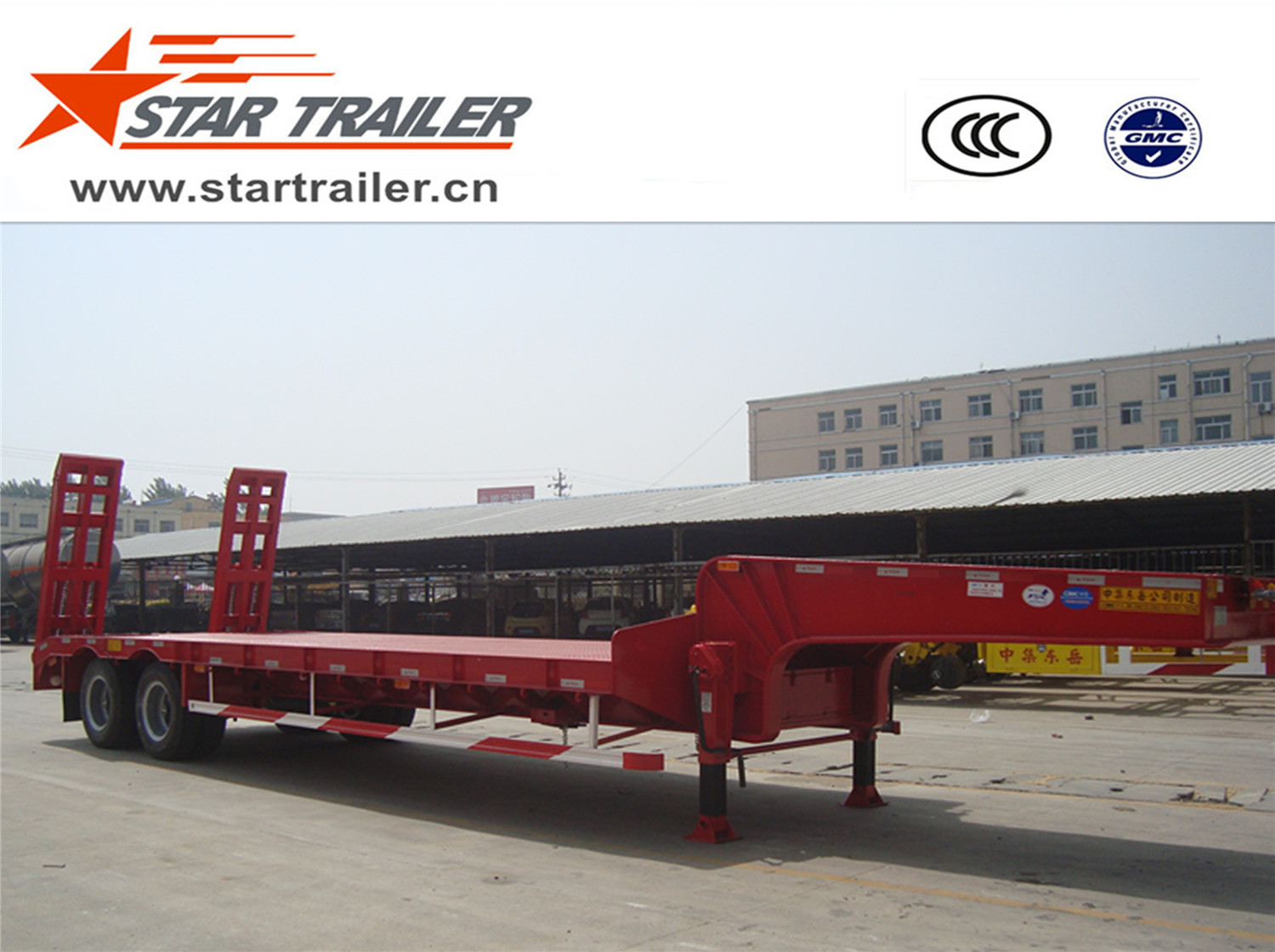 2 Axles Low Bed Semi-trailer
