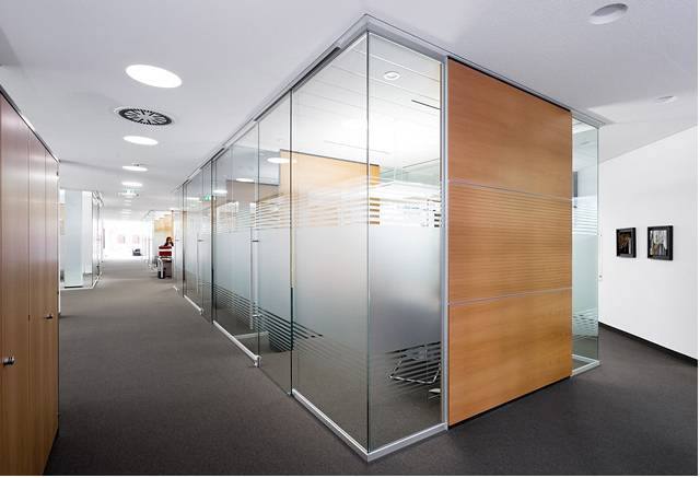 12mm single tempered glass aluminium profile office partition wall