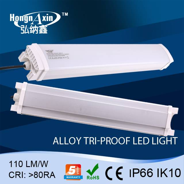 High lumens Output IP66 led tri-proof light 80w (water proof, dust proof, corrision proof),5 year wa