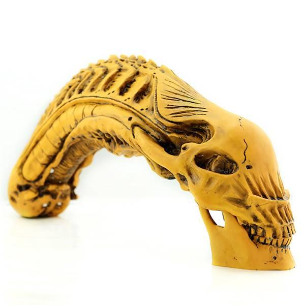 Predator VS Alien Skull skeleton Fossil Resin Model AVP Figure Statue20inch(50cm)2KG Gift 47*10.5*21