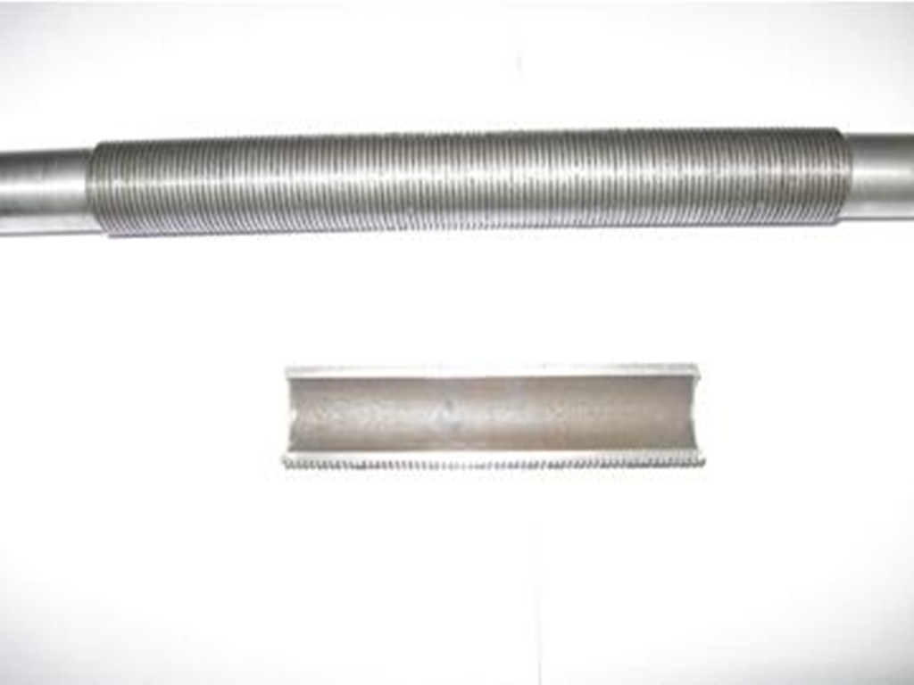 Machined high flux tube (T-shaped finned tube)