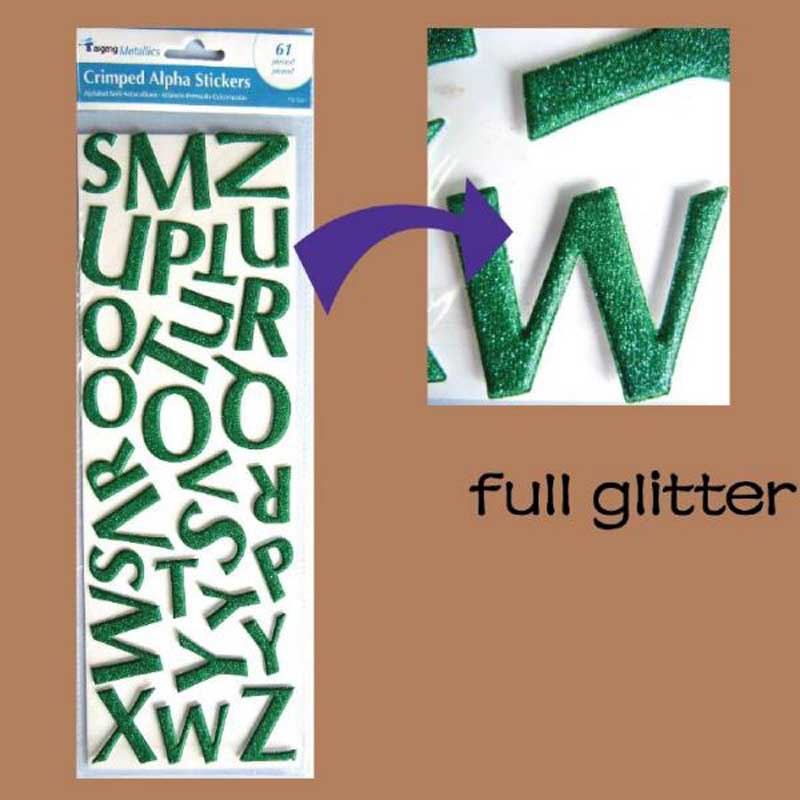 Factory alphabet stickers full glitter foam stickers
