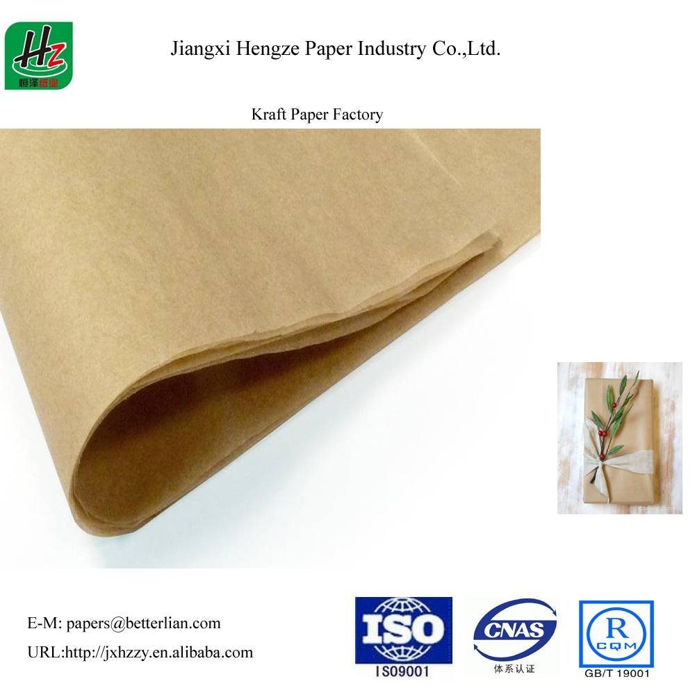 Unbleached uncoated 68gsm packaging kraft paper