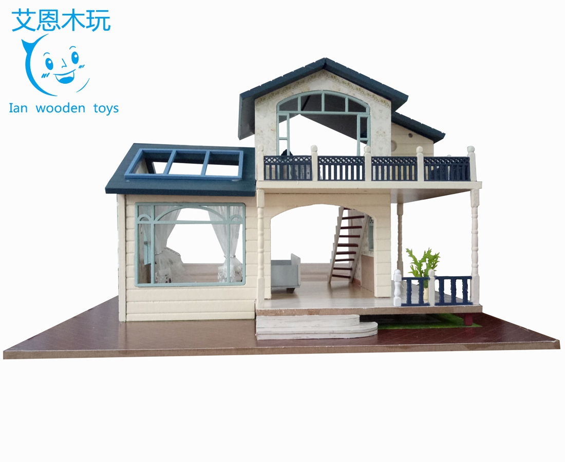 DIY Wooden Toy House, Toy Doll House Play Set, Craft Wooden Sweet House
