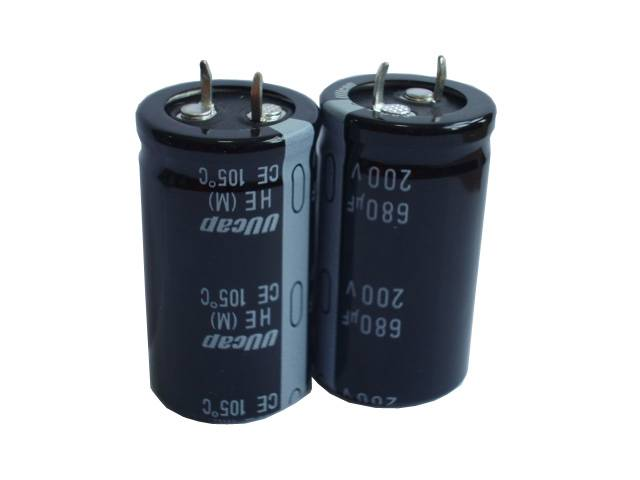 UUcap 200V 680UF Snap-in Aluminum Electrolytic Capacitor 3000hrs