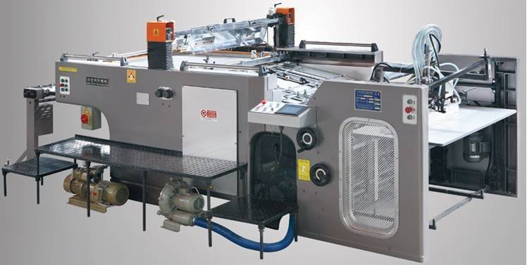 Automatic stop cylinder screen press