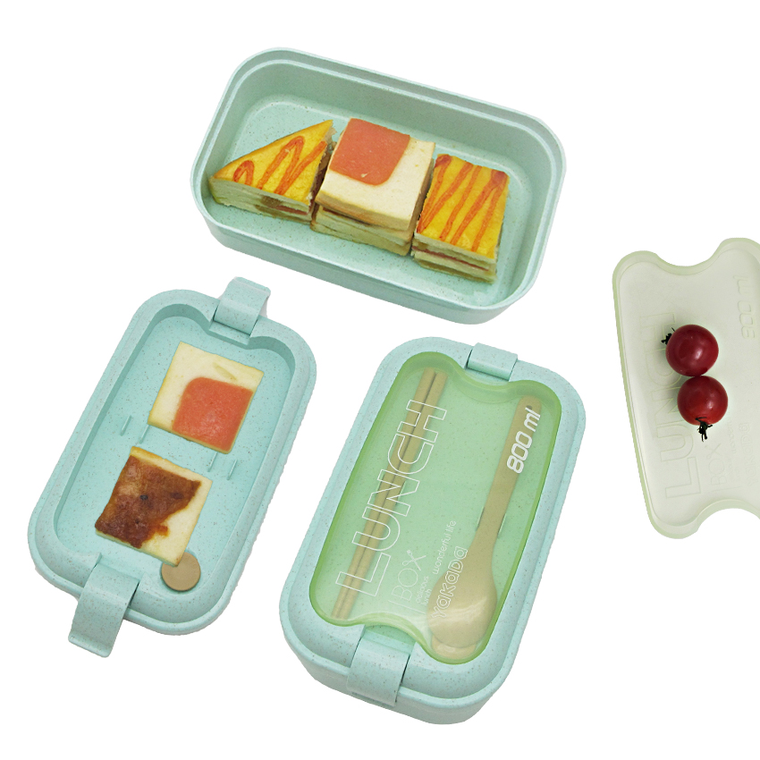 Wholesale Custom food grade bamboo fiber Lunch box contains
