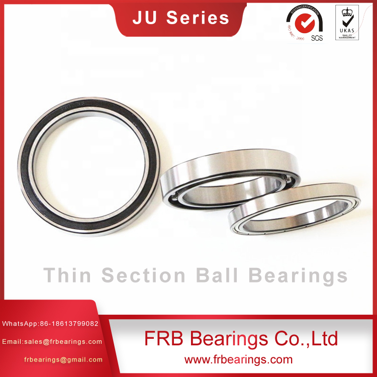 Thin section sealed four point contact bearings JU series bearings