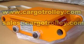 machinery skates moving heavy duty load easily