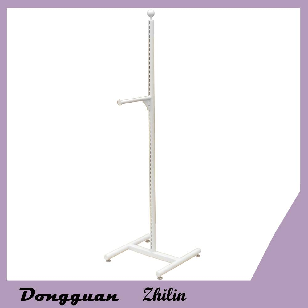 multifunction metal clothes display shelf,metal hat rack with hooks