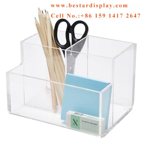 Customized design Plexiglass PMMA acrylic office organizer