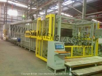 Laminated front windshield auto glass machine for car