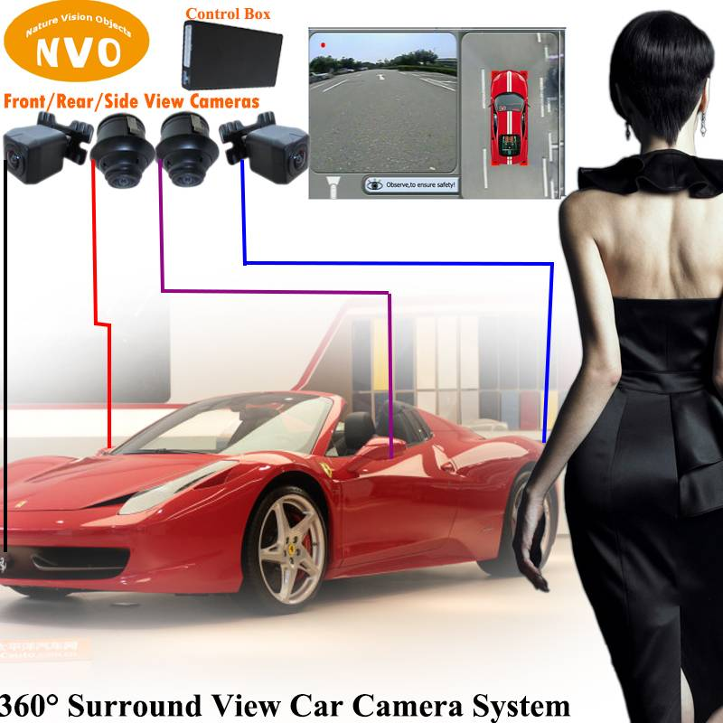 360 Around View Parking Assist Universal for All Cars with DVR function Bird'seye View Parking Aid