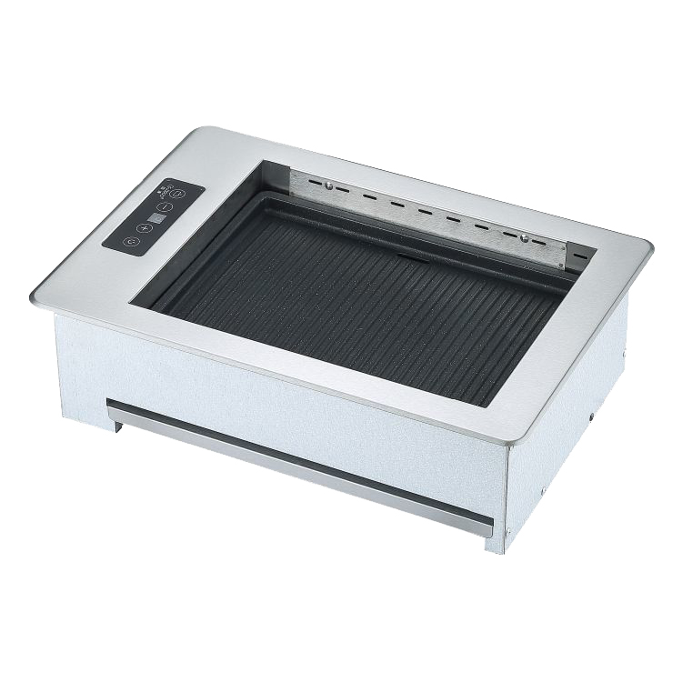 rectangular electric barbeque grill for hot pot and bbq restaurant
