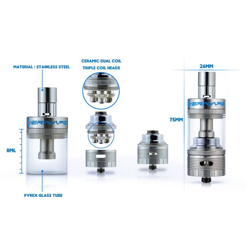 2015  hot-selling  most popular  from ceravape new products Soter  sub ohm vaporizer