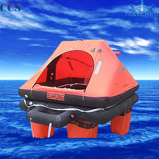 Y Type Throw Overboard Inflatable Life Raft (For fishing boat use only)