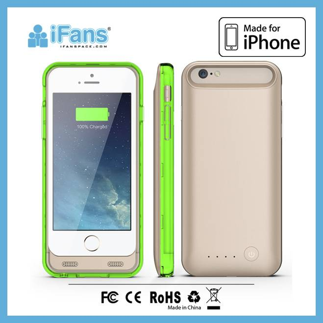 Mobile phone battery pack for iPhone 6 case and cover