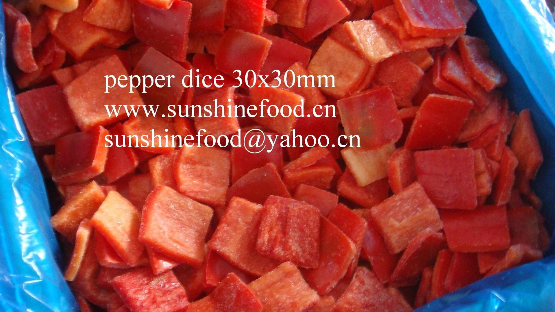 IQF pepper dice, best price