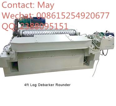Shredder dust wood log rounder 4ft debarker machine