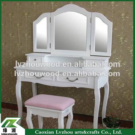 French dresser/bedroom furniture white dresser/wooden dresser with chair