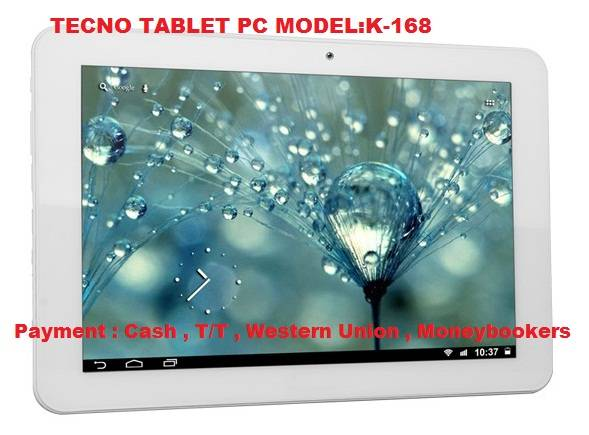 TECNO K168 Tablet PC Andriod ARM Quad Core Cortex-A9