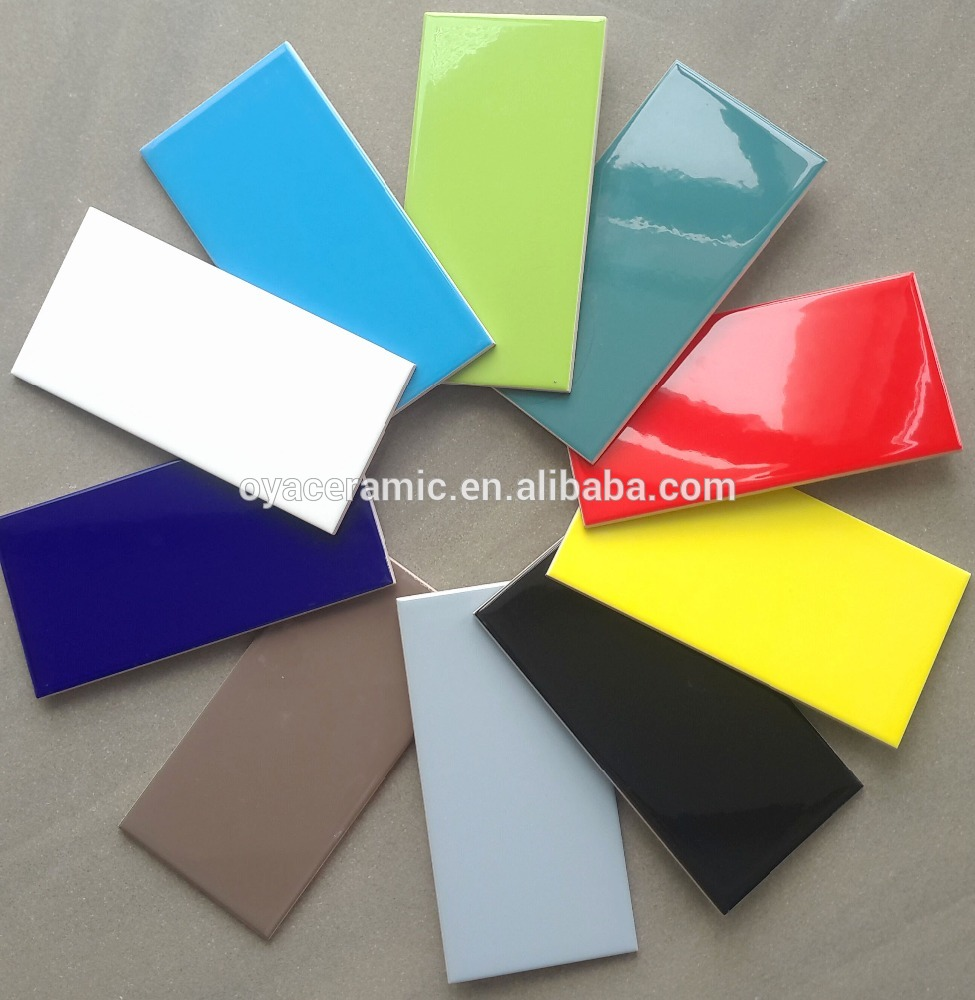 Gloss Bevel Colorful Wall Tiles 100x200mm