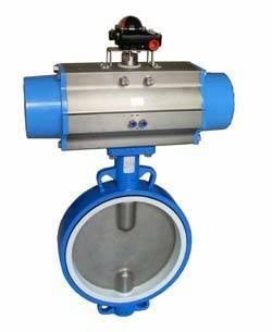 High performance Teflon lined wafer Butterfly Valve Types