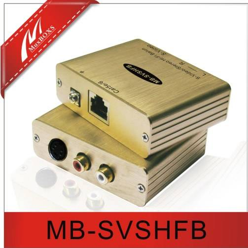 1-CH S-Video/Stereo Audio Balun