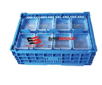 Folding crate/ plastic folding container