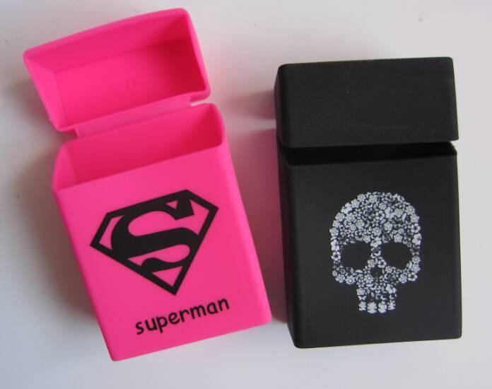 Colorful soft OEM brand silicone cigarette case, silicone cigarette pack cover, silicone cigarette b