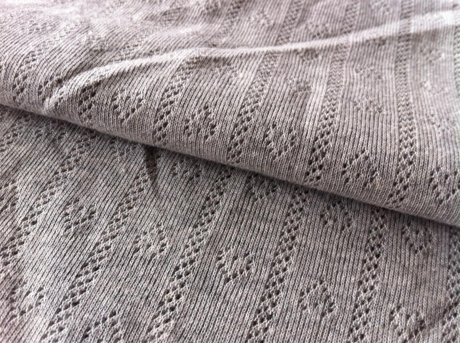 Cotton/poly jacquard rib 220 GR/M2