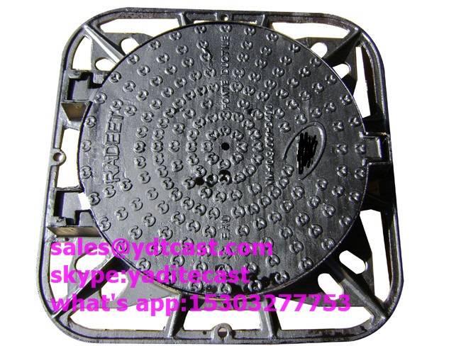 ductile iron manhole cover D400 52 KG en124