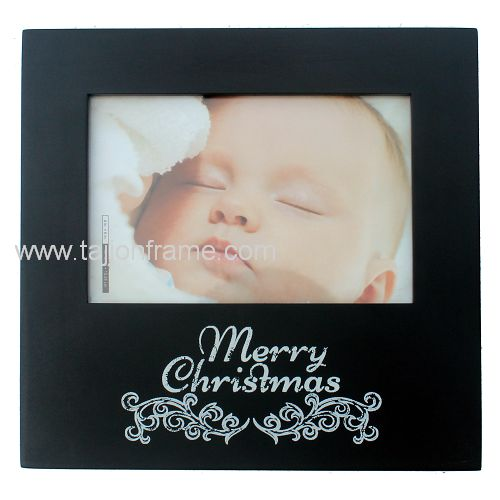 New Modern Merry Christmas Screen Printing Wooden Photo Frame