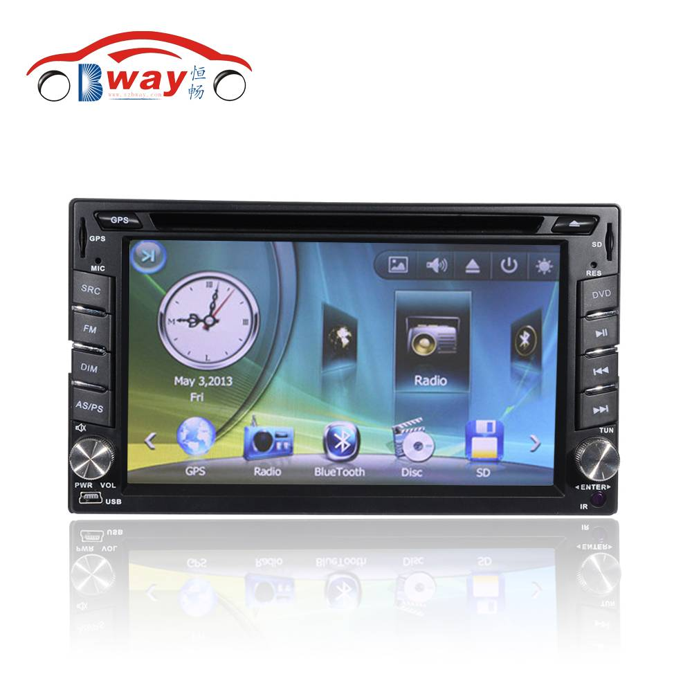 Bway interchangeable car video player for universal car dvd gps 256 MB RAM with Radio,bluetooth,USB/